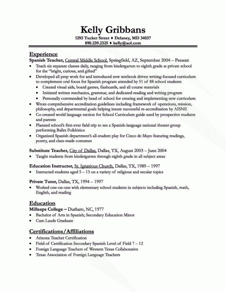 Homeschool Teacher Resume - Best Resume Collection