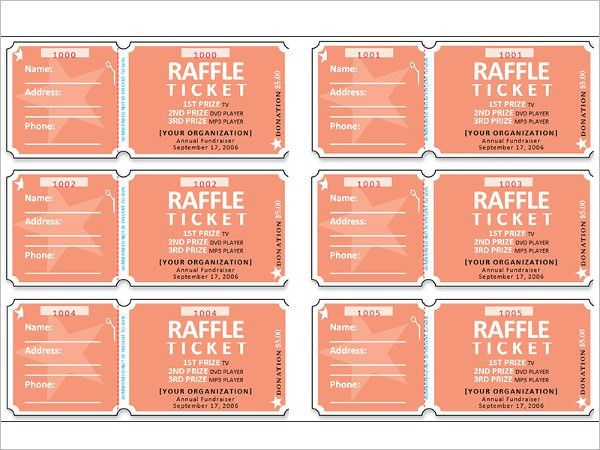 Sample Raffle Sheet. 6 Silent Auction Bid Sheet Templates ...