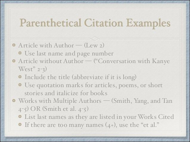 How to Write an Effective Conclusion and Parenthetical Citations