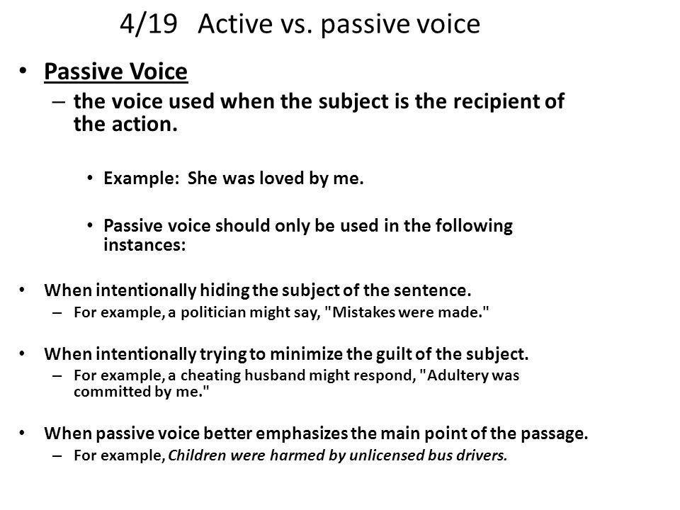 4/19 Active vs. passive voice - ppt video online download