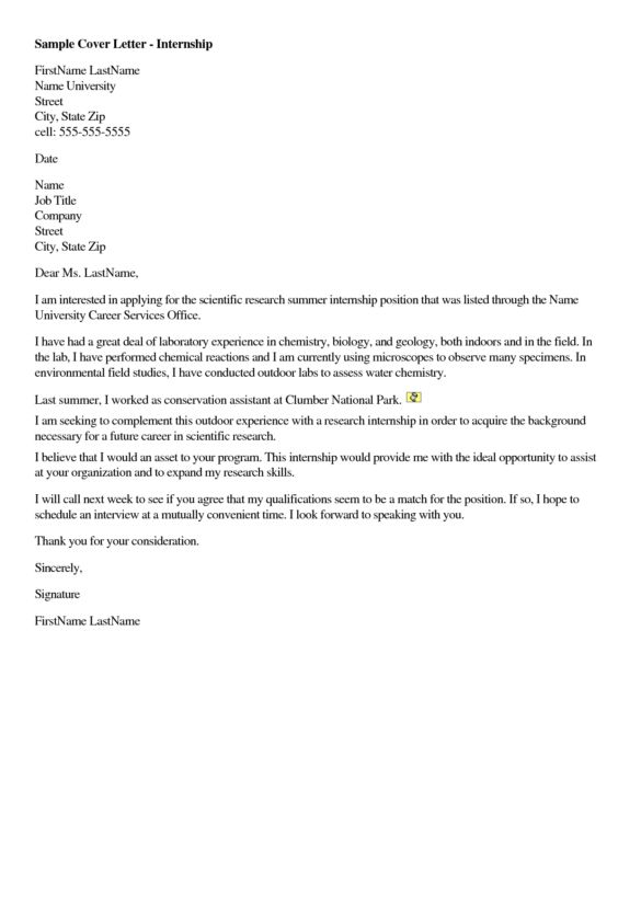 Brilliant Sample of Cover Letter for Summer Internship for ...