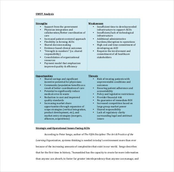 8+ Healthcare SWOT Analysis – Free Sample, Example, Format ...