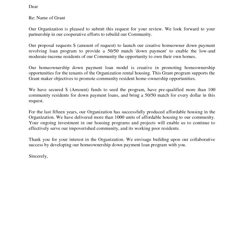Grant Cover Letter - Professional Cover Letter