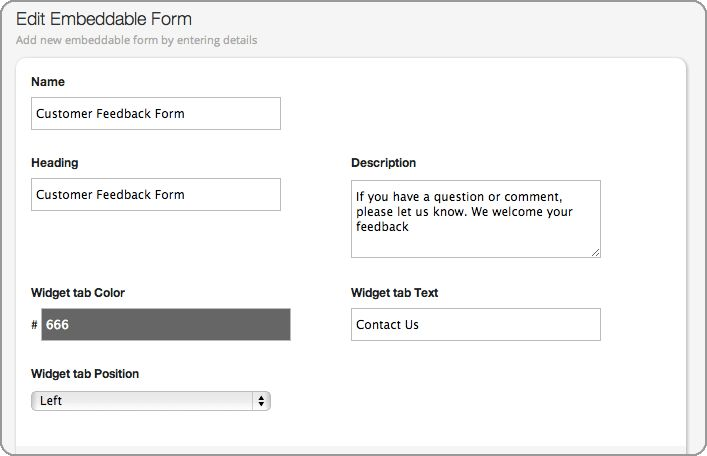 Customer Support Contact & Feedback Form For Your Help Desk
