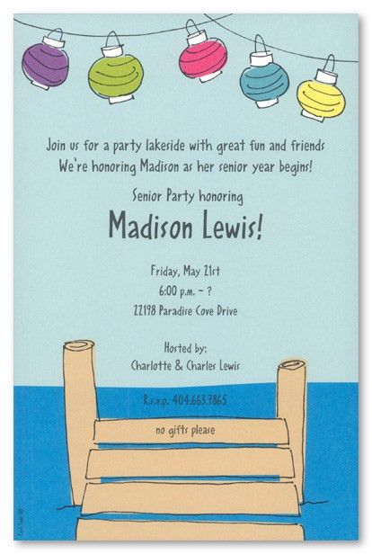 Traditional Dock With Lanterns Invitation MyExpression, 5277