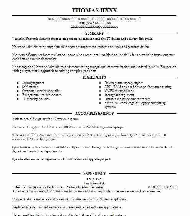Best Legacy Systems Administrator Resume Example | LiveCareer