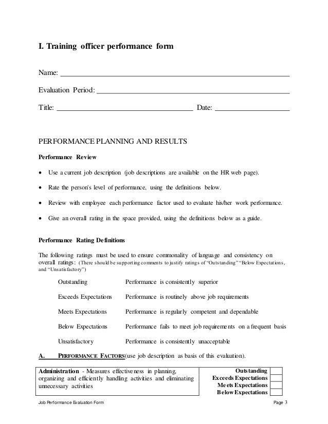 On The Job Training Evaluation Form 19 Sample Training Evaluation – On the Job Training Evaluation Form