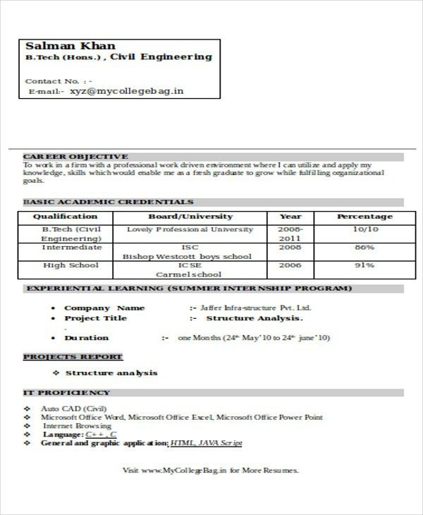 47+ Engineering Resume Samples | Free & Premium Templates