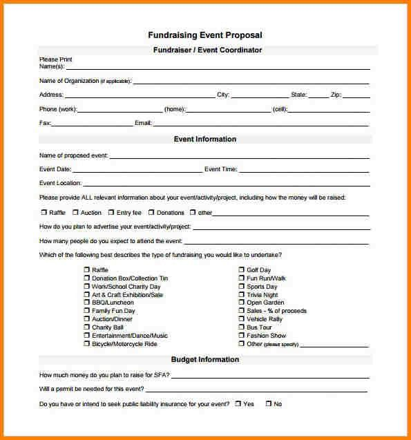 Fundraiser Proposal Template Fundraising Event Proposal Template