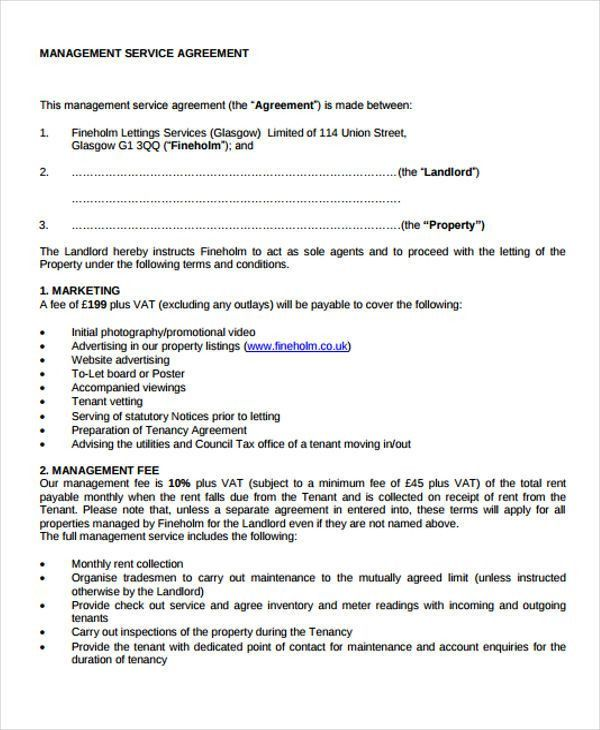 9+ Management Agreement Templates - Free Sample, Example Format ...