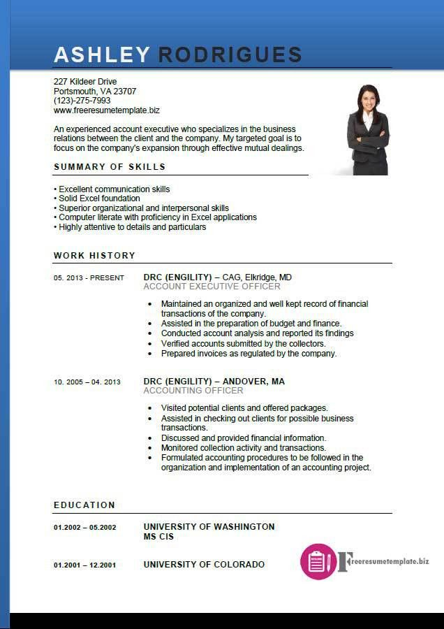 Free Executive Resume Templates. Executive Resume Samples 10+ ...