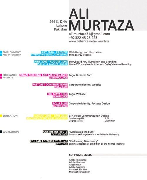 Ali Murtaza Design Resume | Be at your professional best ...