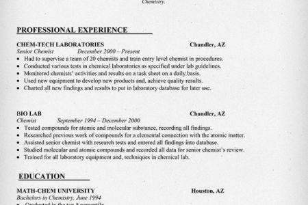 Chemist Resume [Template.billybullock.us ]  Entry Level Chemist Resume