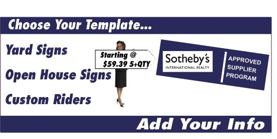 Sotheby's Real Estate | Real Estate Signs, Yard Signs, Open House ...