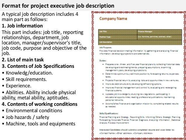 work experience example. job description digital senior project ...