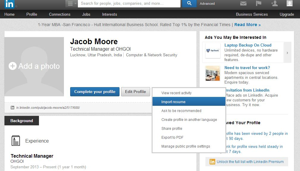 Astounding Adding Linkedin Profile To Resume 76 For How To Make A ...