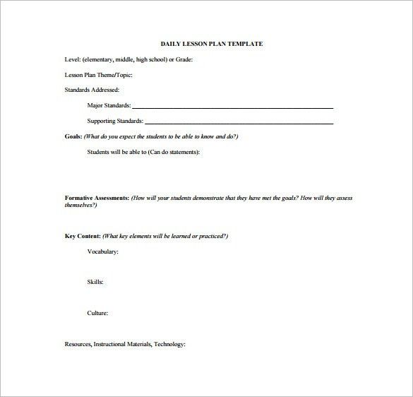 High School Lesson Plan Template – 9+ Free Sample, Example, Format ...