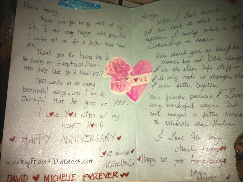 An Anniversary Card | Long Distance Relationships - 100+ FUN ...