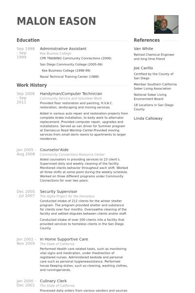 Handyman Resume samples - VisualCV resume samples database