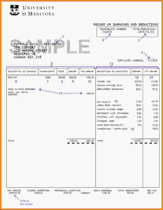 Pay Stub Template Free.canadian Pay Stub.jpg - Letter Template Word