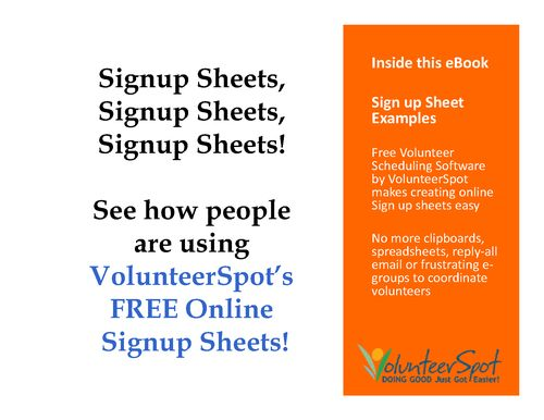 Sign up Sheet Examples - Make Your Own - Online, Free and Easy ...
