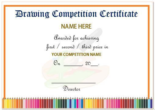 13 Admirable Drawing Competition Certificates : Templates ...
