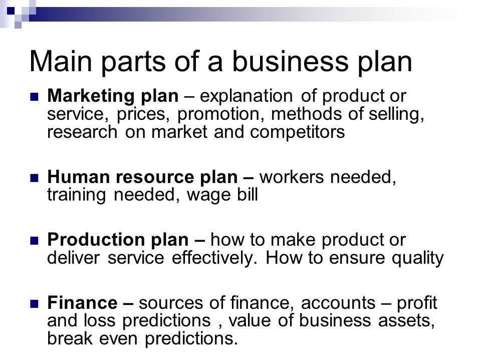 The Business Plan.. What is a business plan? Copy this - 'A ...