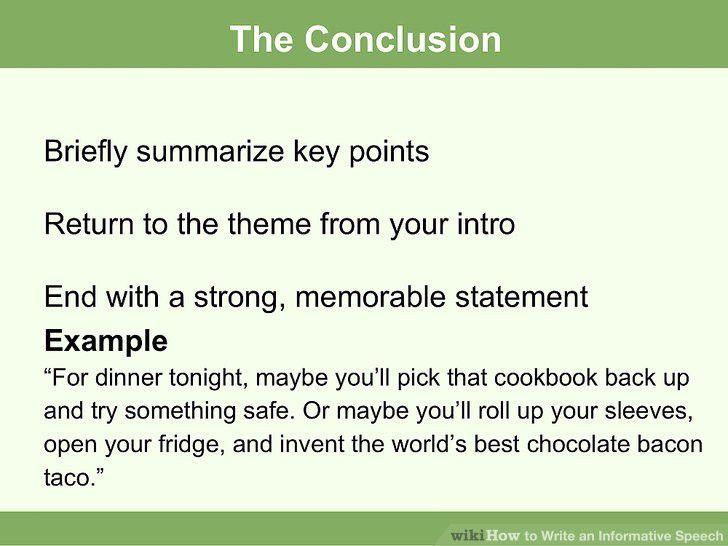 How to Write an Informative Speech (with Sample Speech)