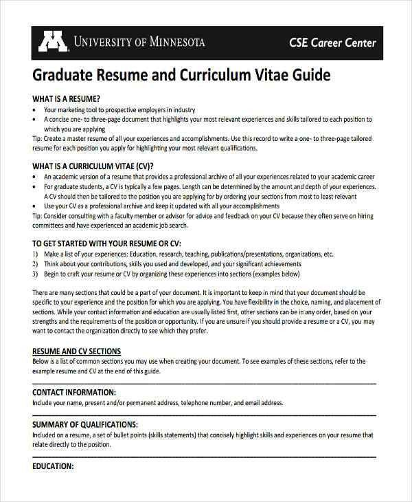 Graduate Fresher Resume Templates- 6+ Free Word, PDF Format ...