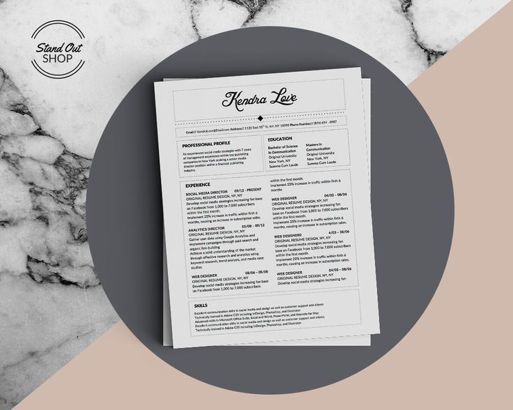 10 best Kendra Love Fancy Resume Template images on Pinterest ...