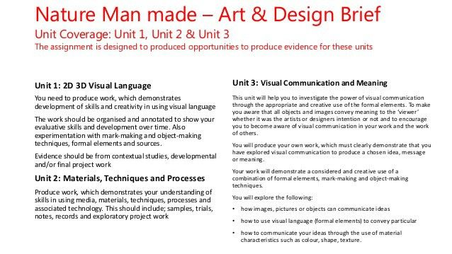 Nature man made (adb) project summary template 1