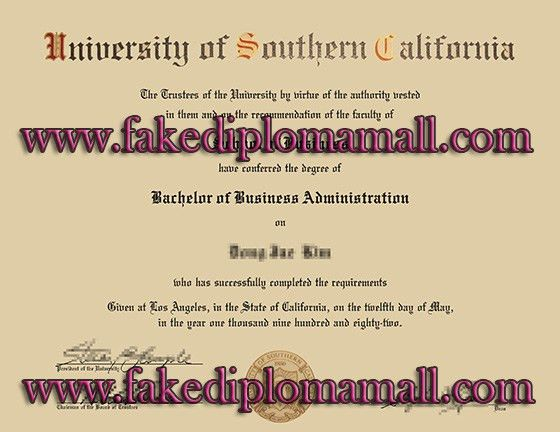 USC, University of Southern California bachelor degree sample_Buy ...