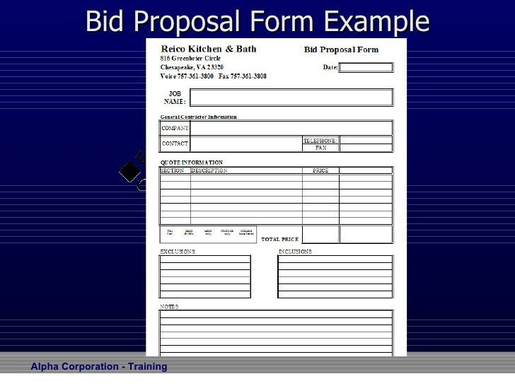 Bid Proposal Forms] 12 Best Proposal Images On Pinterest Cleaning ...