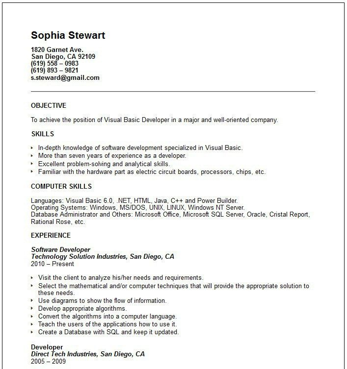 Projects Design Simple Objective For Resume 7 Sample Career ...