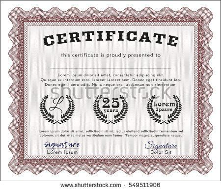 Red Certificate Border Stock Images, Royalty-Free Images & Vectors ...