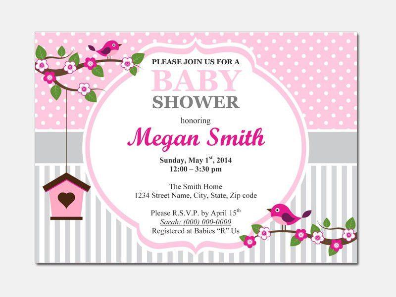 Free Editable Baby Shower Invitations Templates - Party XYZ