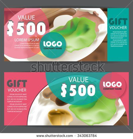 Gift Voucher Certificate Coupon Template Modern Stock Vector ...