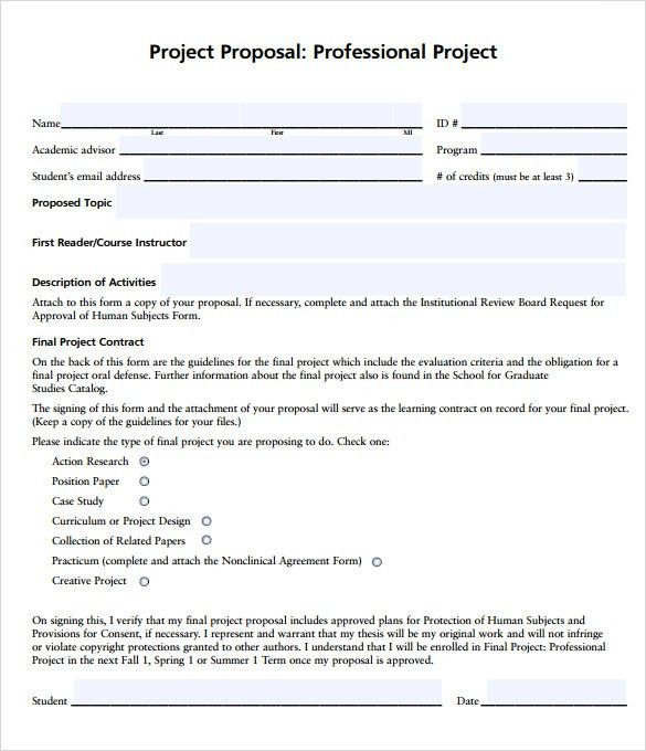 Sample Professional Proposal Template - 6+ Documents in PDF, Word
