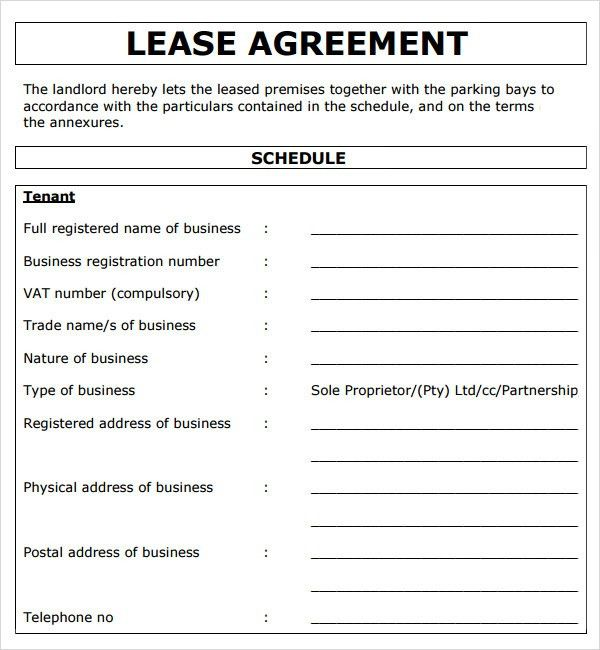 Rental Contract Template. Free Equipment Rental Agreement Doc ...