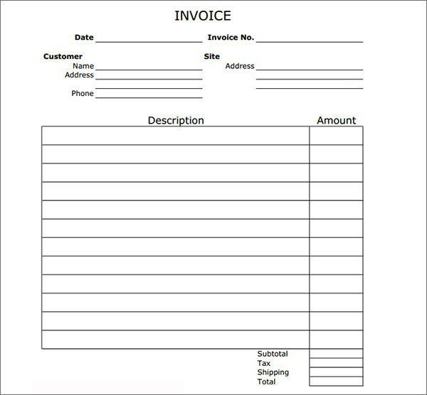 Invoice Format Template | Free Invoice Template
