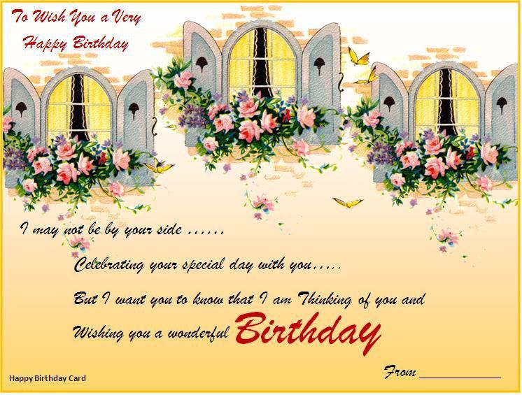 Birthday Card Template Download Page | Word Excel PDF