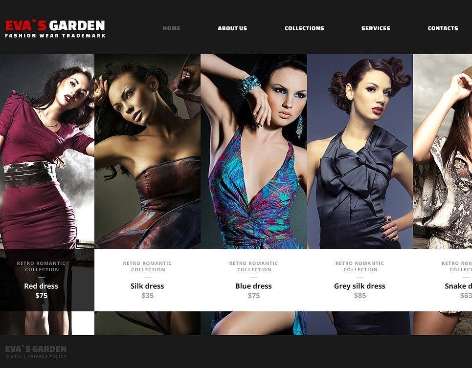 Fashion Website Template #43865
