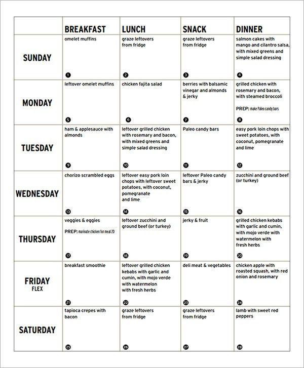 Sample Diet Menu Template - 13+ Free Documents in PDF