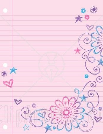 Lined paper kid writing paper with borders wish could find this ...