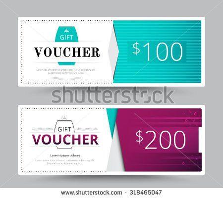 Gift Voucher Card Business Voucher Template Stock Vector 318465047 ...