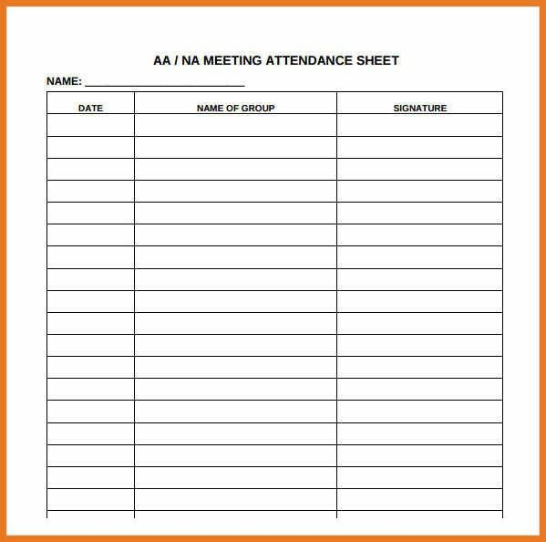 attendance sheet template   art resume skills