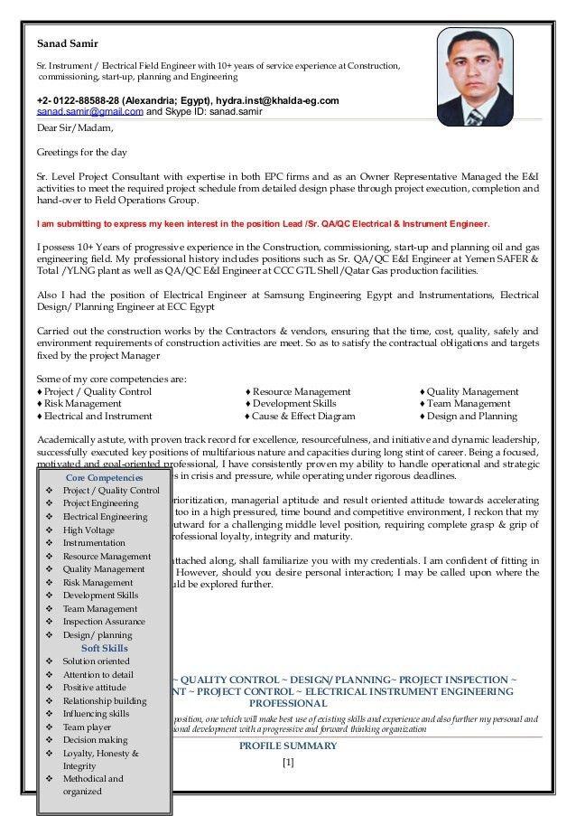 Instrument Commissioning Engineer Sample Resume] Cv ...