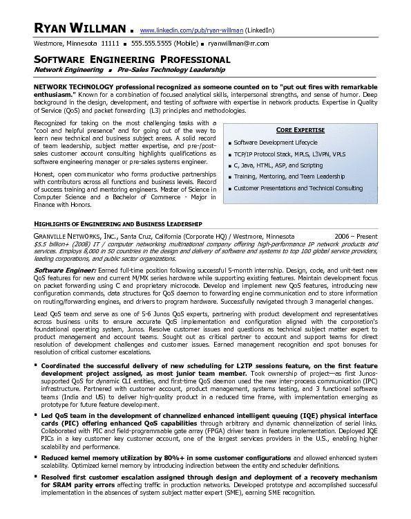 Sample Network Engineer Resume. Sample Network Engineer Resume ...