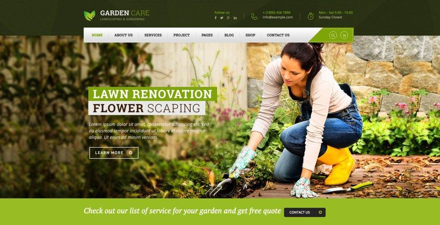 30+ Best Gardening & Landscaping WordPress Themes in 2016
