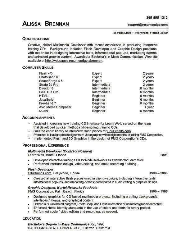 Listing Computer Skills Resume - http://jobresumesample.com/383 ...
